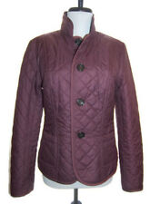 MAX MARA Weekend reversible dusty plum quilted/heather wool button jacket 8 NEW