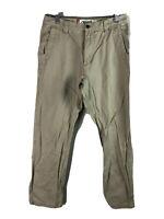 Mountain Khakis Broadway Fit Pants Mens 33 x 32 Beige Flat Front Cotton Outdoor