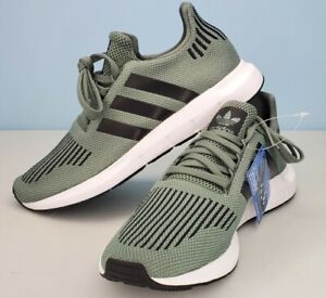 Adidas Swift Run CG4115 Men's Shoes Trace Cargo Green Black White Size 8.5 NWT
