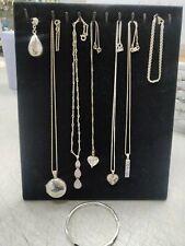 Silver Jewellery Job lot Bundle Necklace Bangle