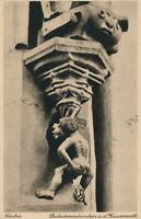 VINTAGE DUKATENMANNCHEN ON BUIDLING of HOTEL KAISERWORTH GOSLAR POSTCARD