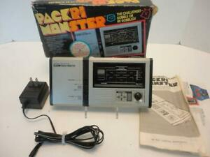 1981 Bandai Electronics PACRI MONSTER Hand Held PAC-MAN Game Works w/ Adapter