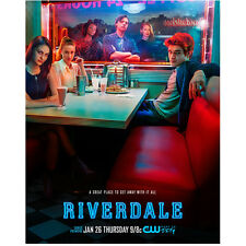 Riverdale K.J. Apa as Archie Andrews Seated with Cast 8 x 10 Inch Photo