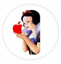 """ SNOW WHITE HOLDS THE APPLE "" ROUND MOUSEMAT for Mac iPad MacBook mouse mat pad"