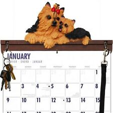 Yorkshire Terrier Yorkie Calendar Caddy, Key Holder & Leash Hook~New W/Out Box!