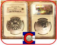 2009 Canada Thunderbird $5 1oz Silver Coin - Vancouver 2010 Olympics - NGC MS69