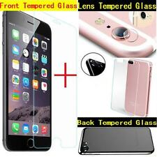 Front +Back +Rear Back Camera Lens Tempered Glass Screen Guard For iPhone 7 Plus