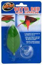 Zoo Med Labs Ornament Betta Bed Leaf Hammock Natural Resting Place Fish Sleep
