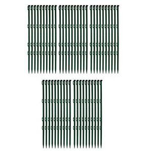 Weidezaunpfahl grün 50 Stück 0,72m Gesamtlänge Kunststoff Pfosten Weidezaun