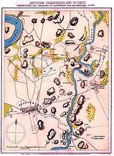 Mapa Antiguo Estados Unidos Guerra Civil Antietam plan de batalla grandes Repro de cartel impresión pam1248