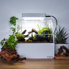 'Mini Complete Tank' Shrimp / Aquascape / Nano Desktop Fish Aquarium white/black