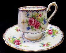 Vintage Royal Albert Bone China Demitasse Cup & Saucer in the PETIT POINT