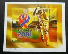XXI SEA Games 2001 Malaysia Stadium Sport Building Running (miniature sheet) MNH