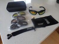 Motorcycle Riding Goggles Glasses Black Tinted Lens Harley Davidson Cafe Racer 1