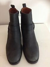 Russell & Bromley Women's 100% Leather Ankle Boots Block Shoes
