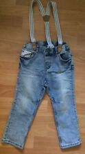 H&M Denim Trousers With Harness 1,5-2yr