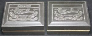 (2) Lucien Piccard EMPTY Watch Display Boxes - 17j - Dufonte - Vintage