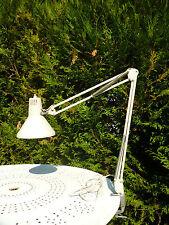 ♦ Lampe De Bureau Vintage Design Blanc En Métal  ♦