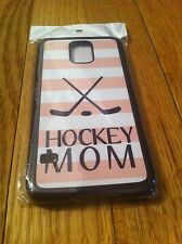 Hockey Mom White Pink Stripes For Samsung Galaxy S5 SV Cell Phone Cover Case NEW