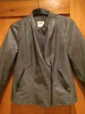 BNWOT Vero Moda grey leather jacket size L approx 14