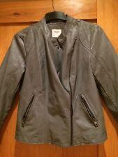 BNWOT Vero Moda grey leather jacket size L approx 14
