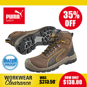 Puma Safety Work Boots 630227 Sierra Nevada Brown Waterproof Lace Up NEW