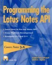 Programming the Lotus? Notes API-ExLibrary