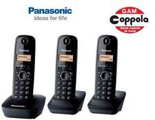 TELEFONO CORDLESS TRIO PANASONIC KX-TG1613 BLACK - ITALIA - RUBRICA C/ID CHIAMAT
