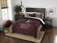 "Florida State Seminoles Full/Queen Comforter & Shams OFFICIAL NCAA ""Modern Take"""