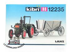 KIBRI 12235 ENSEMBLE TRACTEUR LANZ avec REMORQUE CHARRETTE en Bois - NEUF