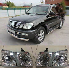 Fit For Lexus LX470 UZL100 Headlights Head lamp Glass lens Set LH + RH 1998-2007