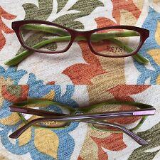 Bevel Check Specs 3589 Sea Green Pink Grain Japan Eyeglass Spectacles Frames NEW