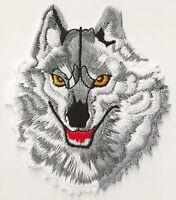 Patch Loup gris écusson thermocollant patche grey wolf embellissement