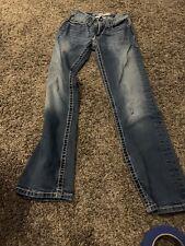 Buckle BKE Mens Boys 25 R Aiden Blue Jeans Bootleg Distressed Denim 26x30