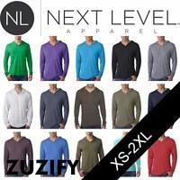 Next Level Apparel Mens Tri-Blend Long-Sleeve Hoodie T-Shirt. 6021