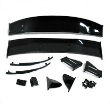 1/10 Racing Car RC Body Shell Cover Touring Rear Wing Set Spoiler Black