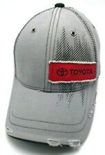 TOYOTA distressed-style gray adjustable cap / hat