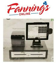 NCR Silver POS Cash Register System with Printer Ipad Not Included USED