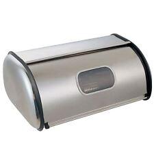 Bread Bin Stainless Steel Kitchen Loaf Storage Box With Window Mirrored Finish