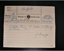 DR - Telegramm 1893 von MANNHEIM nach RAUENBERG