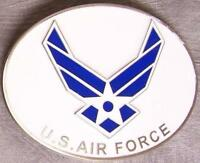 Military pewter belt buckle United States Air Force logo by Siskiyou NEW