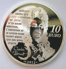 France 2012 Le Chat Botte 10 Euro Silver Coin,Proof