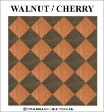 Casa De Muñecas Miniaturas, En Color Madera flooring.wood Baldosas. Sf4. walnut/cherry