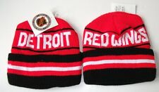 DETROIT RED WINGS KNIT SKI BEANIE STRIPED KNIT HAT CAP WITH CUFF