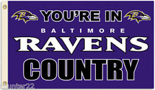 Baltimore Ravens Huge 3' x 5' NFL Licensed Country Flag