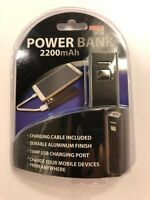 Cellphone Power Bank 2200 mAh 1 Amp USB Charge Port Charge Cable Included
