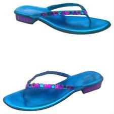 Donald Pliner Couture Metallic Leather Shoe Sandal New Chunky Crystal $295 NIB