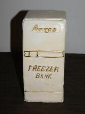 "New ListingVintage 9"" High Amana Ceramic Freezer Coin Money Bank"
