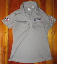MLB 2017 Miami All-Star game embroidered collared shirt gray women's medium