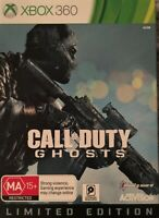 Call of Duty: Ghosts Limited Edition Microsoft Xbox 360 Rare Steel Case Print